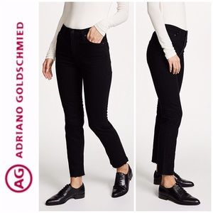 Ag, The Isabelle High Rise Straight Crop Jeans